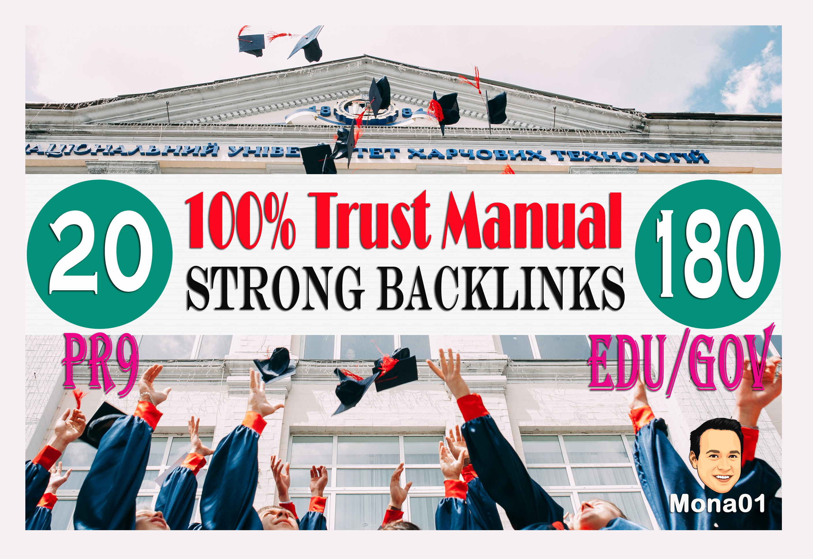 100Percent trust manually do 50 PR9 +200 USA Based EDU/GOV Safe SEO Powerful/HQ Backlinks
