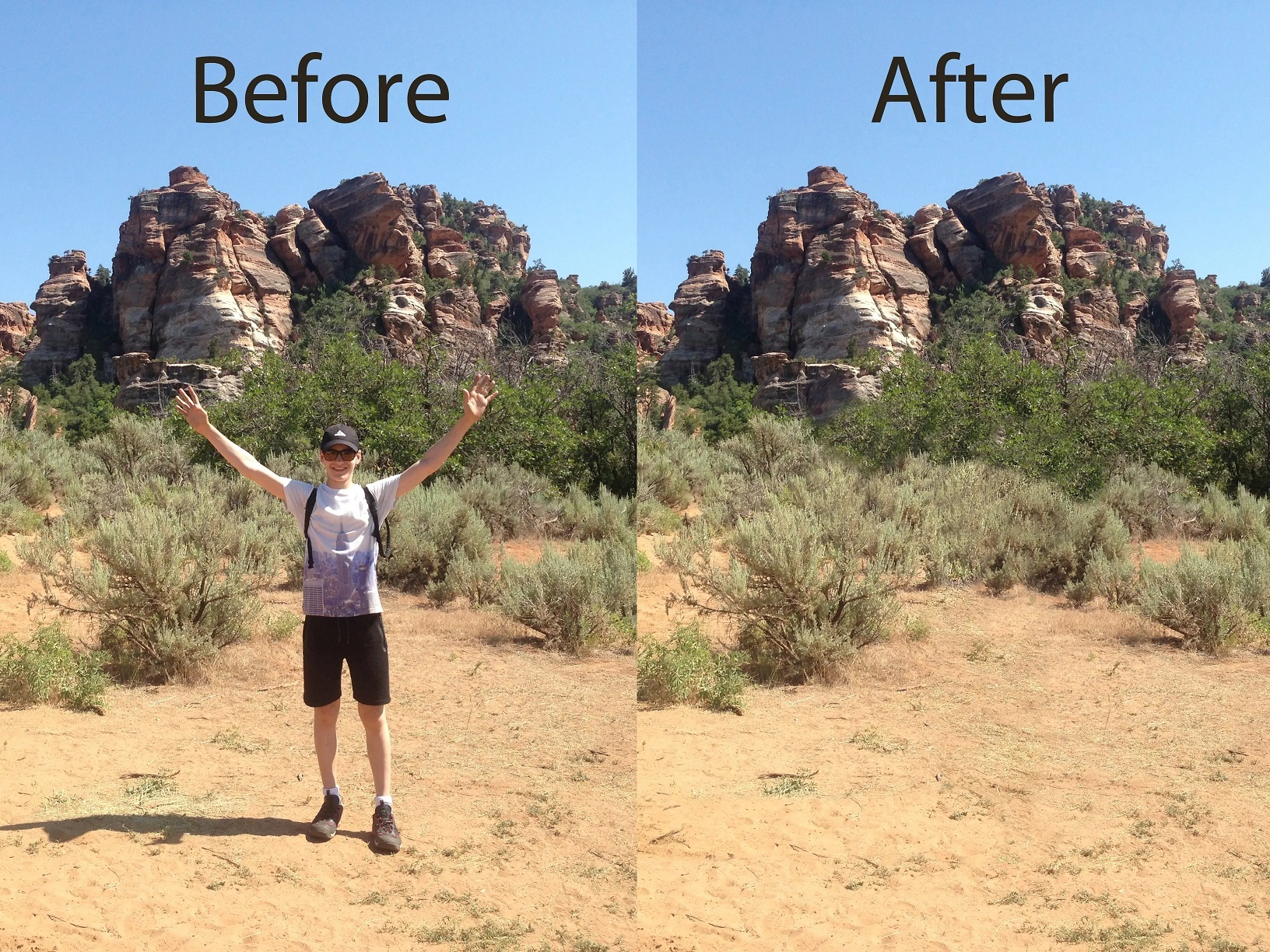 Remove people or objects from your photos