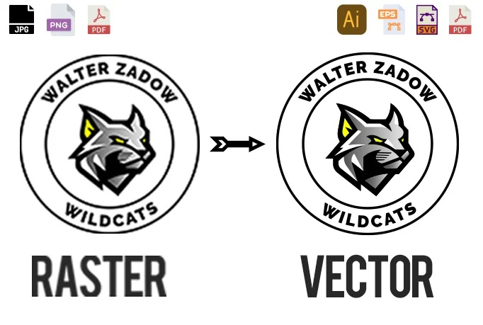 I will vectorize logo, convert to vector, vector tracing