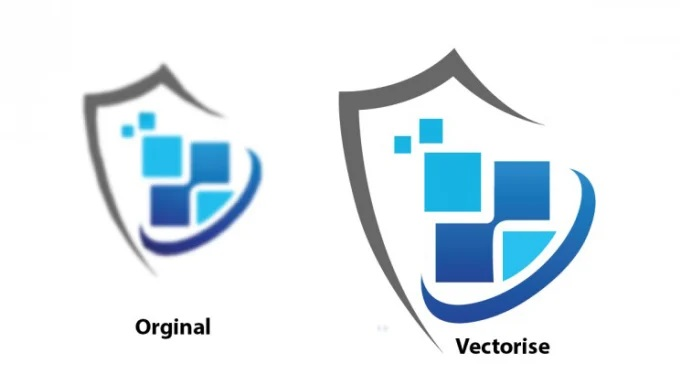I will do vector tracing,  redesign,  retouch logo