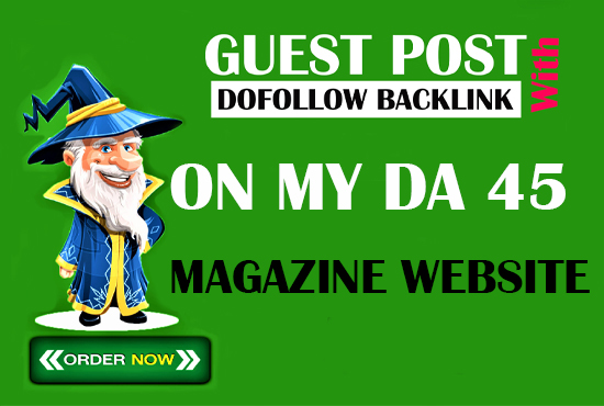 I will give you a high quality SEO article with a backlink from my da 45 website