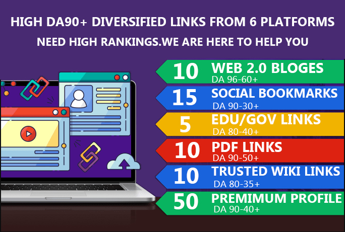 100+ High DA 95+ RANK your website by boosting your web authority