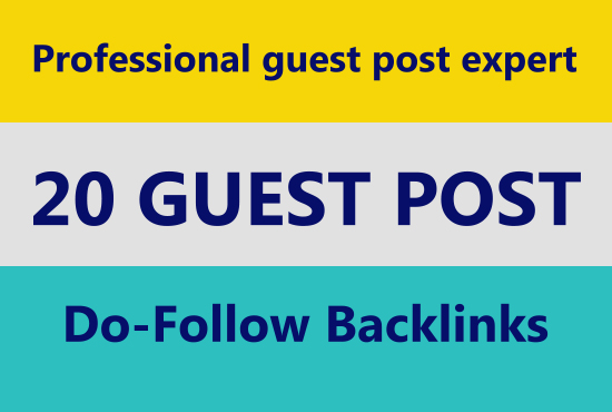 I will write and publish 20 guest post manually