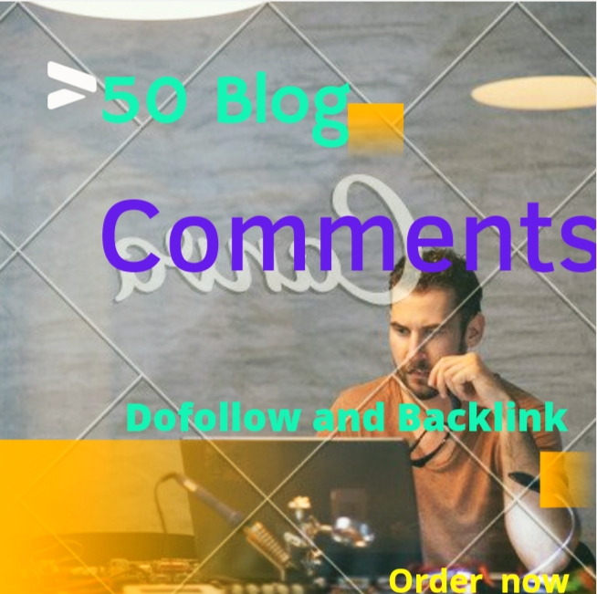 I will 50 unique domain seo service Blog Comment and Backlinks