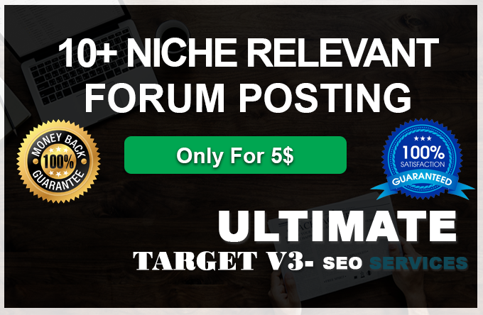 Provide you 10 High quality Niche Relevant forum posting