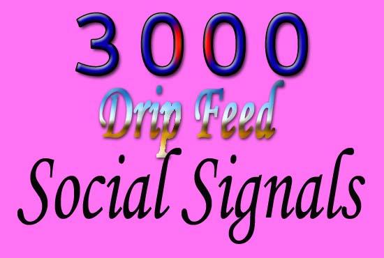 high quality manually create 3000 SEO social signals
