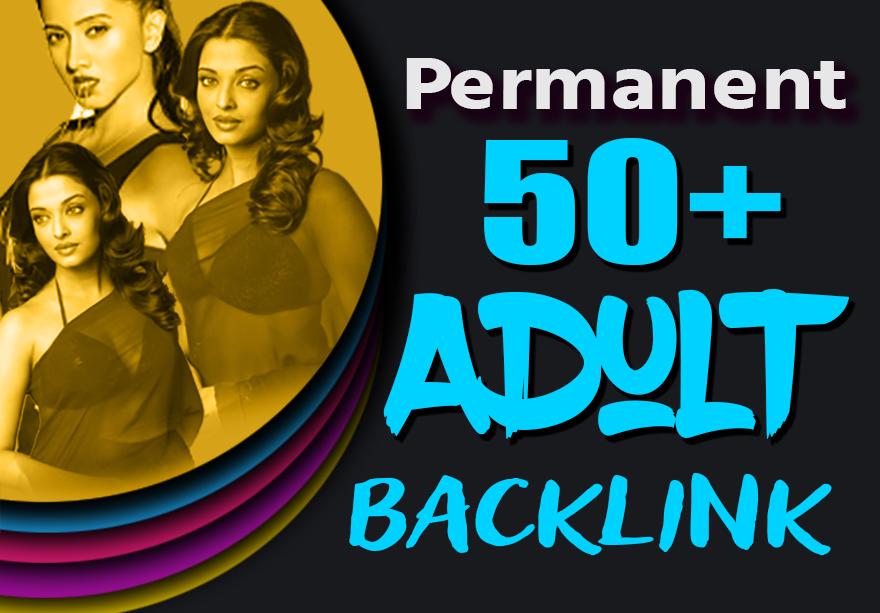 Creative 50 Adult SEO Permanent Backlink From DA30+ Backlinks Site