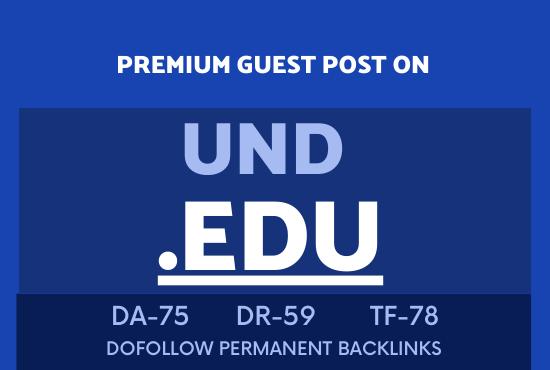 Publish guest post on UND EDU DA75