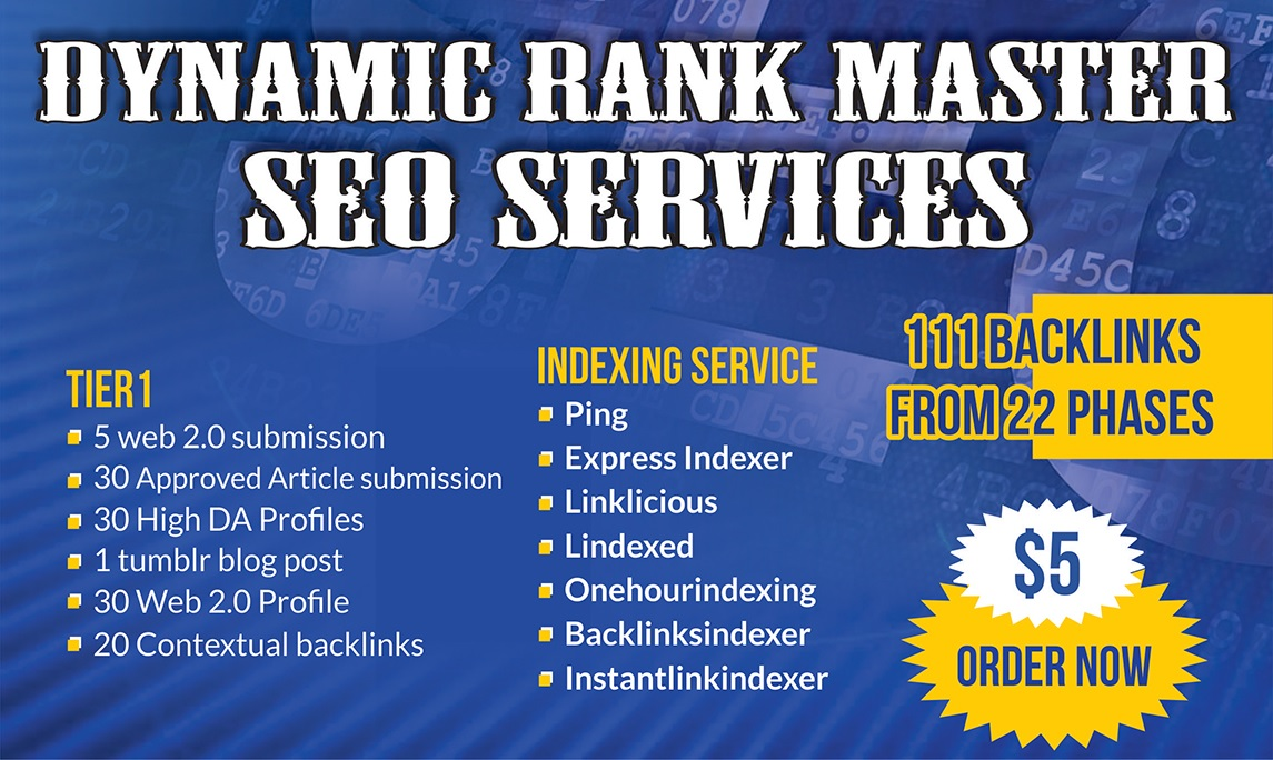 Rank Master Google SEO Backlinks services with Most Powerful links
