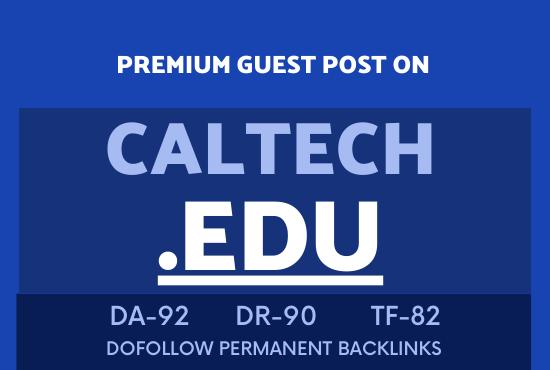 Publish guest post on CALTECH EDU DA92
