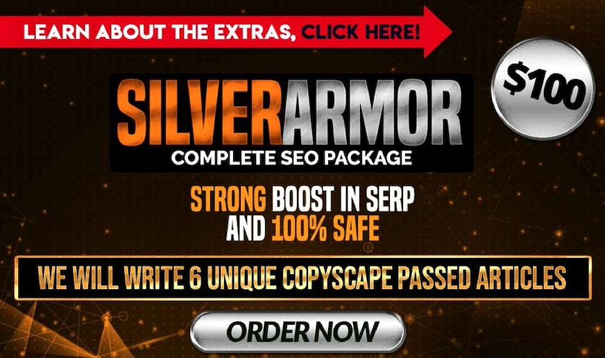 Custom offer for Uprank Silver Armor Complete SEO Package