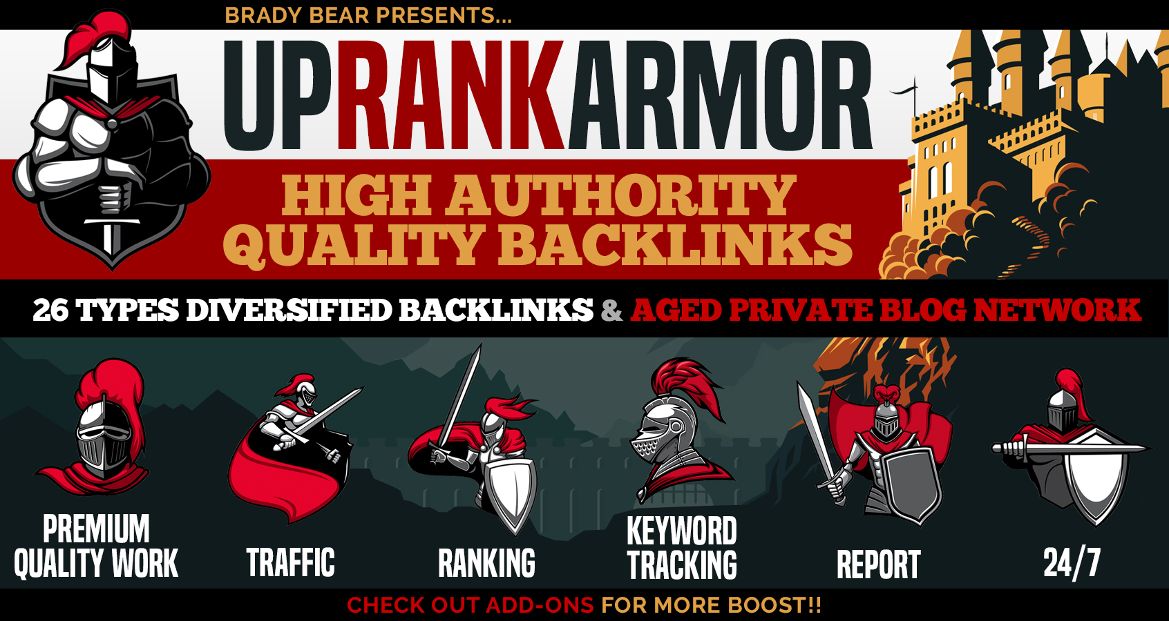 UpRank Armor Complete Package - Skyrocket your website on 1st page of google with Top SEO Backlinks