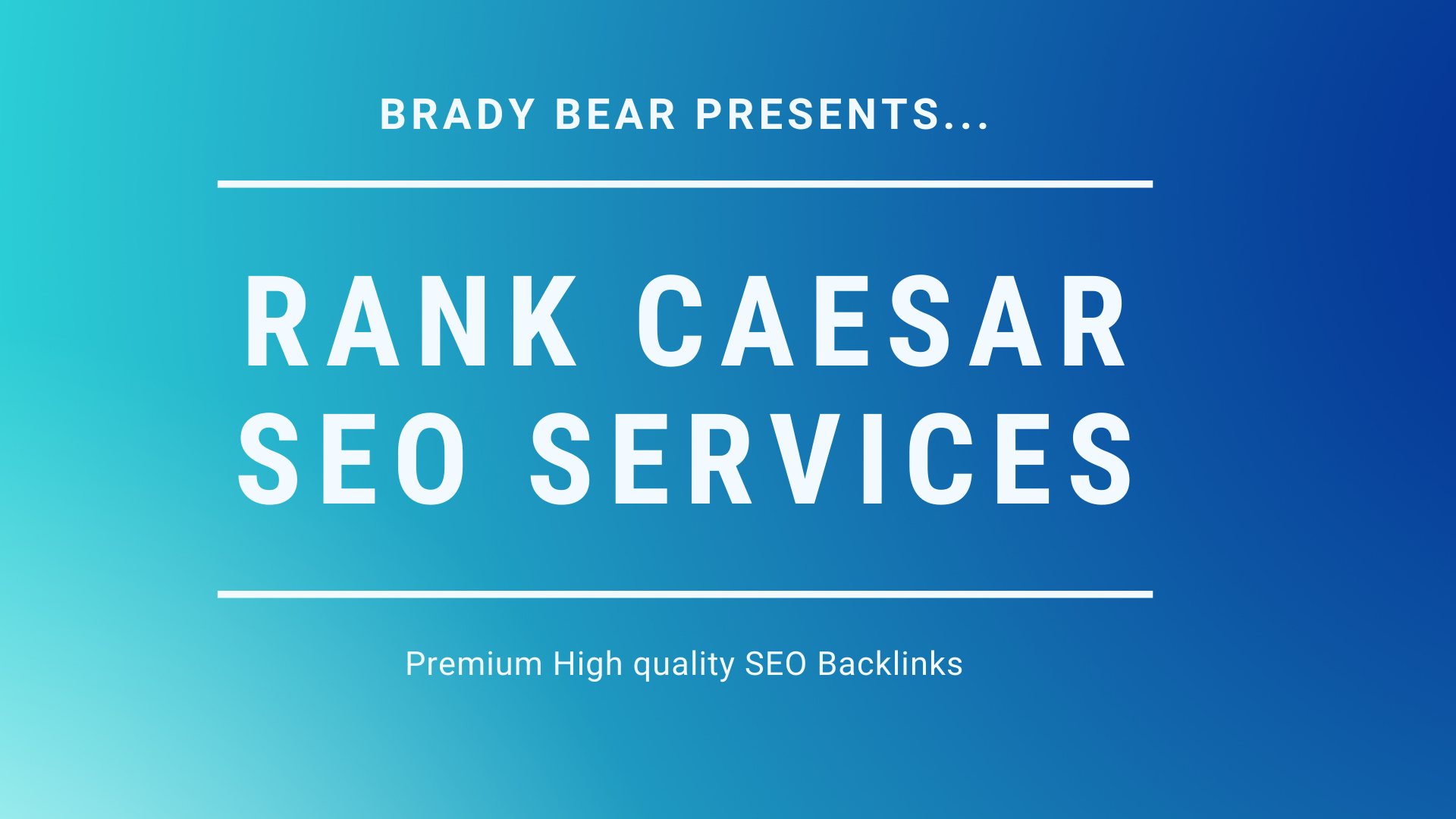 Rank Caesar SEO Services Offers Premium Backlinks for your website