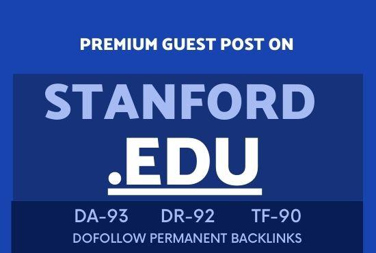 Publish guest post on Stanford EDU DA93 Site
