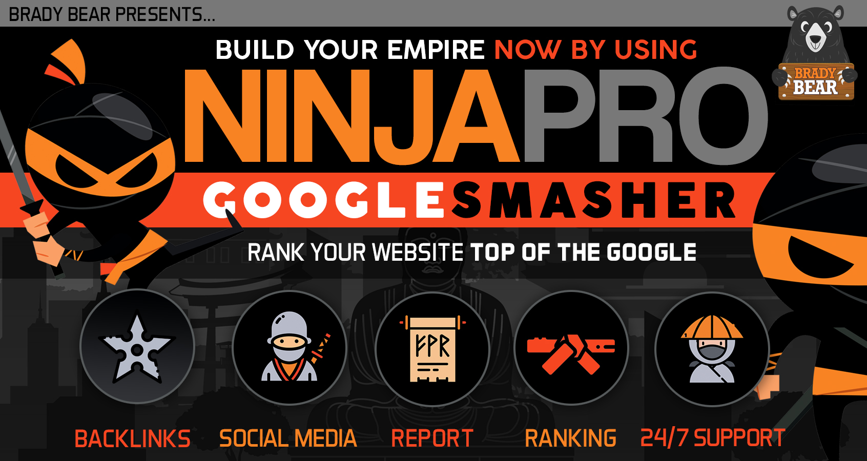 BLACK FRIDAY SALE - NinjaPro Google Smasher- Build your empire in 2020 to Rank your website on Top