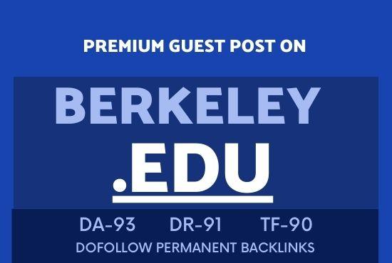 Publish guest post on BERKELEY EDU DA93