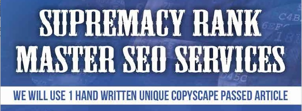 Custom Order for Supremacy Rank Master SEO Services for 1 google ranking