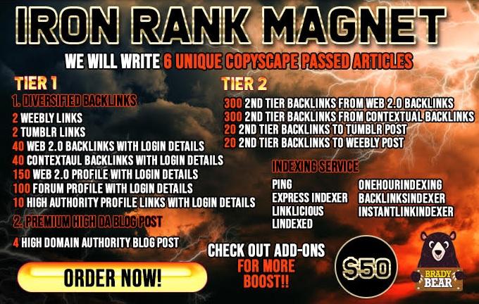Top Rank Magnet for Google With Safe High Da SEO Backlinks