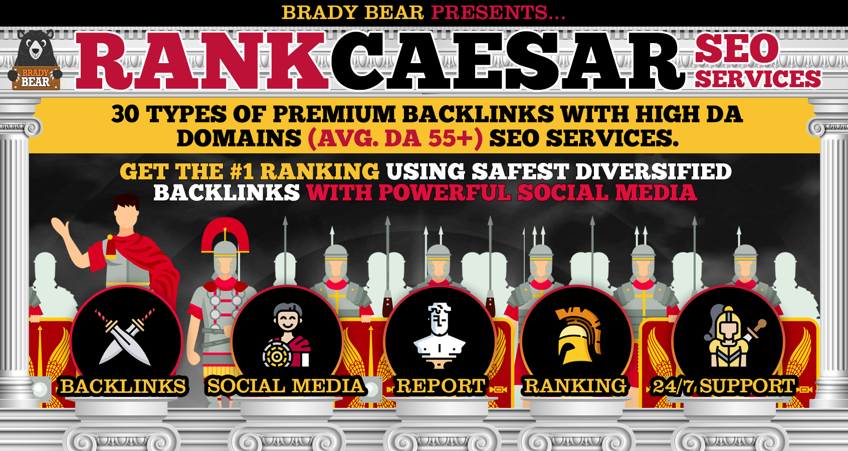 RANK CAESAR 3.0 - Premium SEO backlinks for 2020 GOOGLE PAGE #1 RANKING