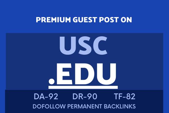 Publish guest post on USC EDU DA92 site