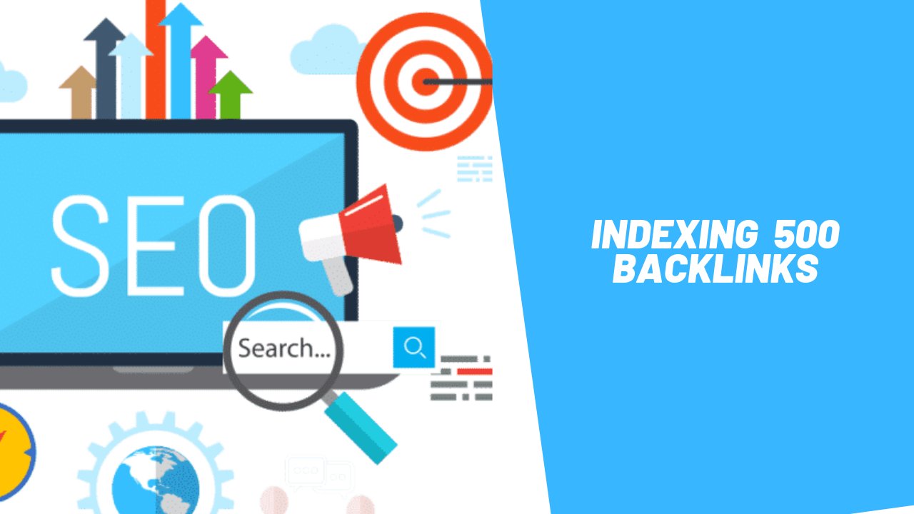indexing of 500 Backlinks with a premium backlinking tool