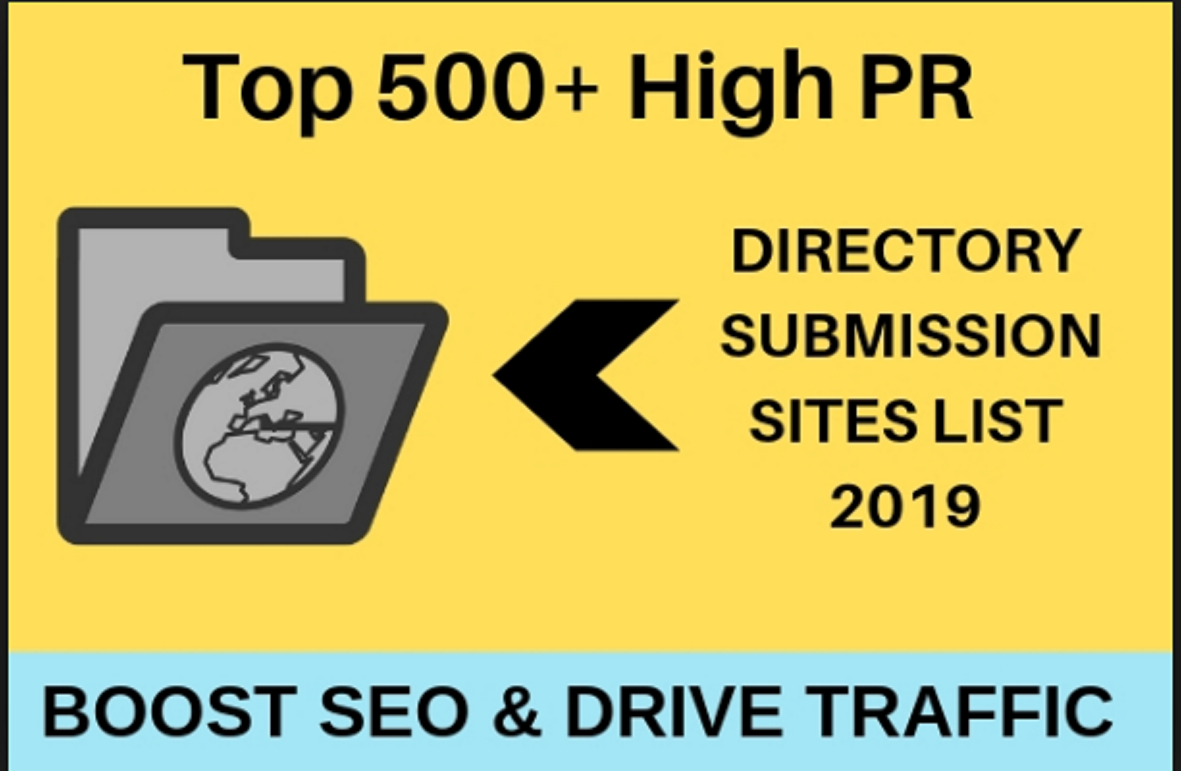 500 directoris submission your website 100% Secure