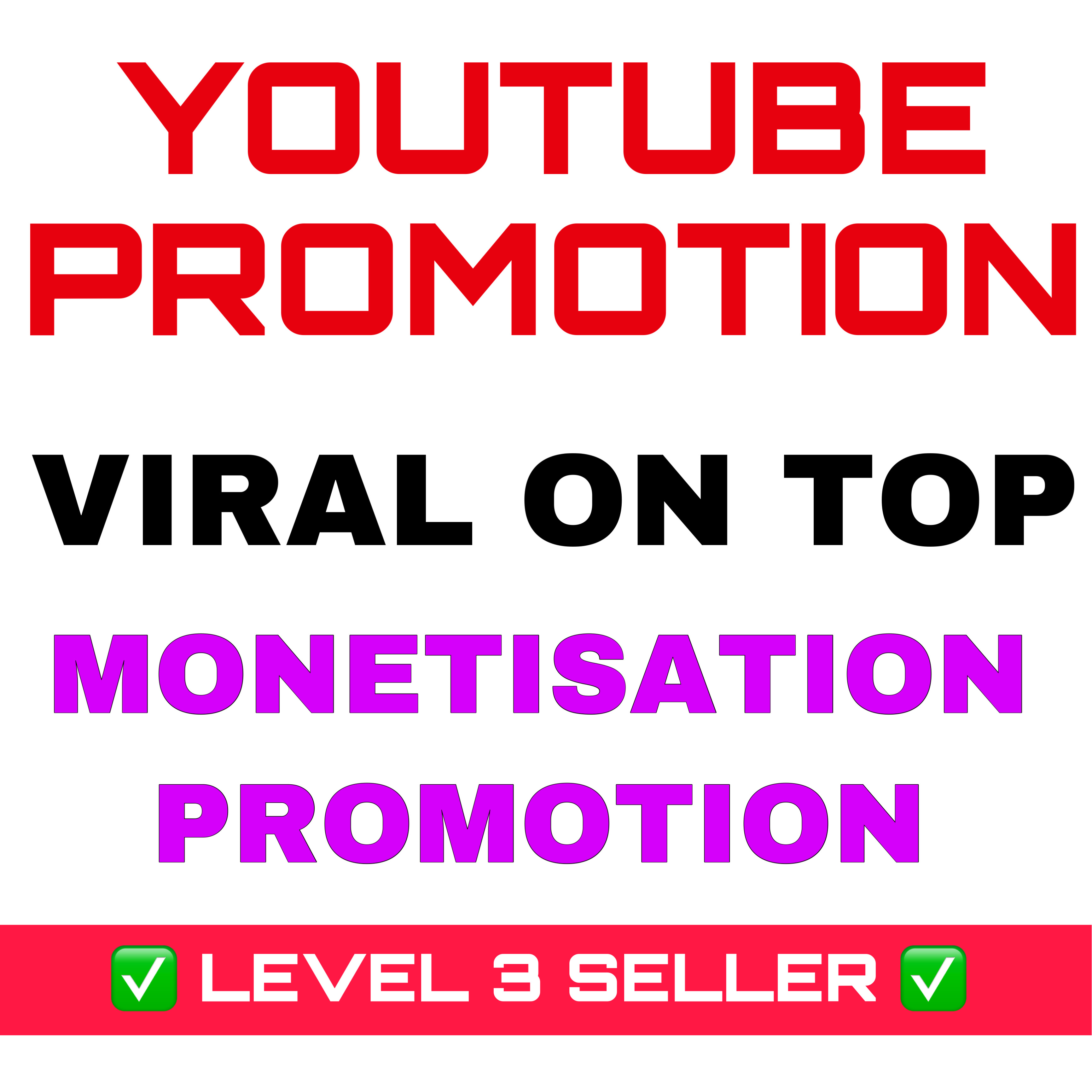 Youtube VIRAL Promotion by real user Organic Youtube seo