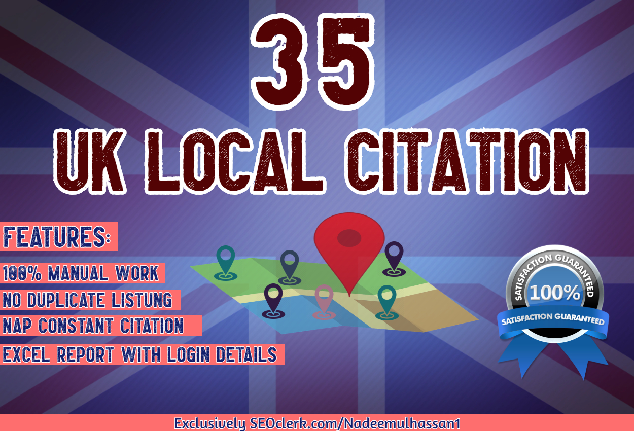 35 UK local Citation Local Seo