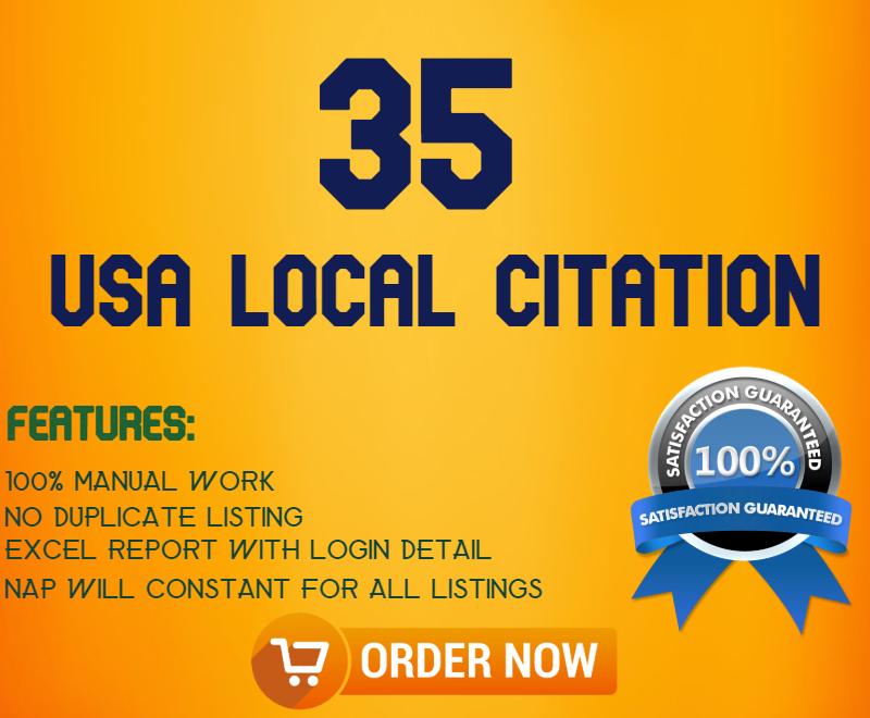 35 live USA local Citation (Local SEO)