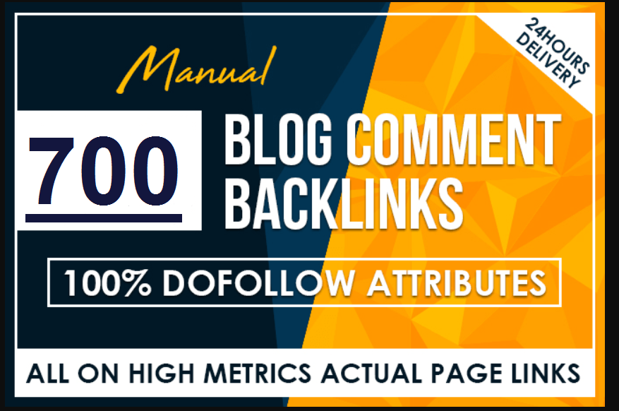 I will 700 manual dofollow blog comment backlinks high