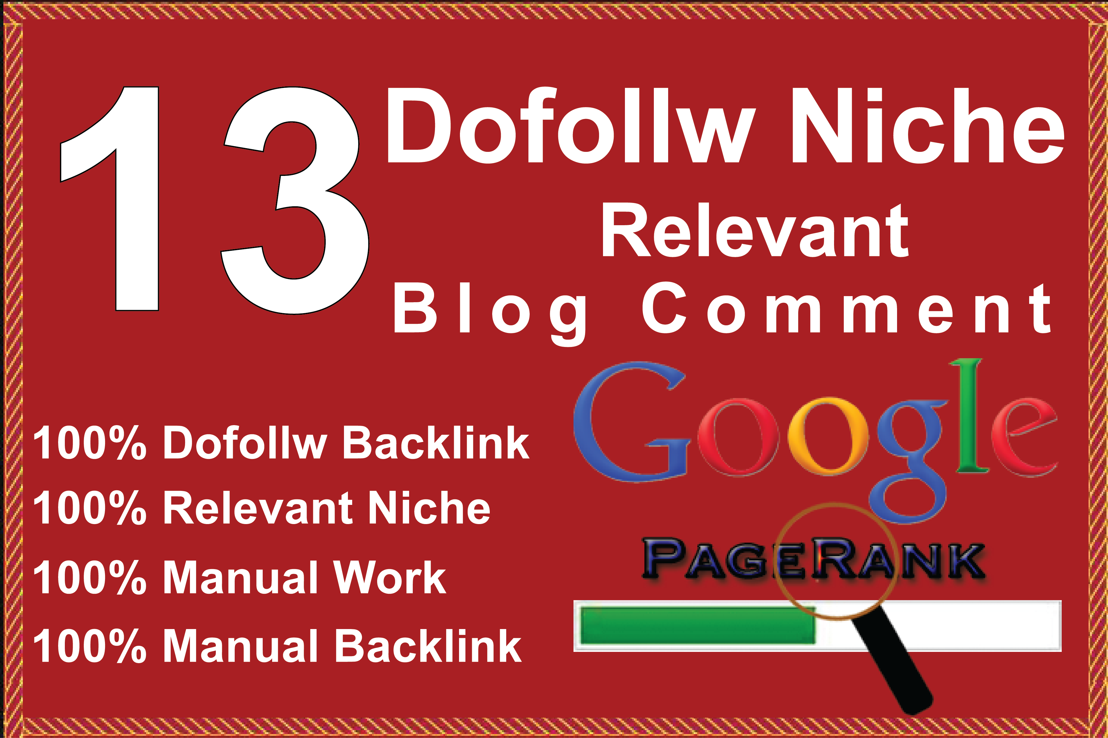 13 niche relevant dofollow high quality blog comments