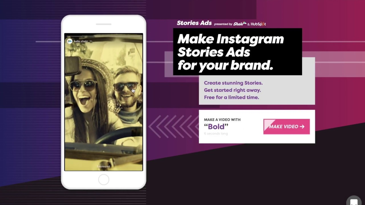 create video ads for instagram story