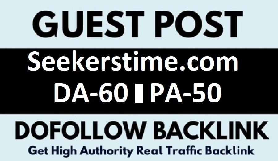 Guest post On Google News Approved Website Seekerstime. com DA60