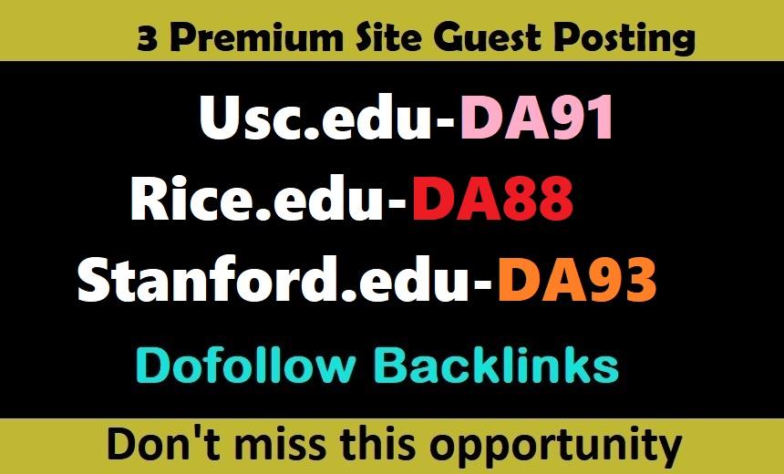 Write 3X EDU Guest Posts On DA80 - DA93 Website