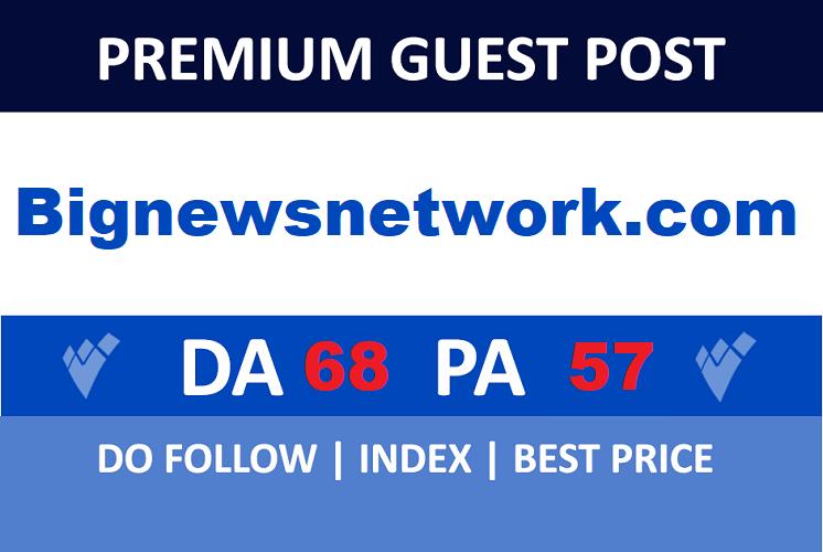 Guest post on Bignewsnetwork. com DA 68