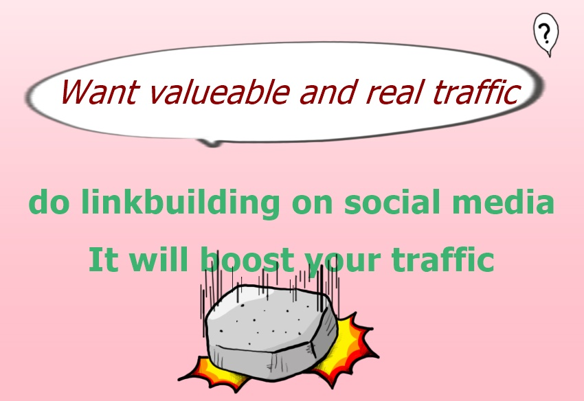 get targeted traffic from Manual social media with 30 high quality link building