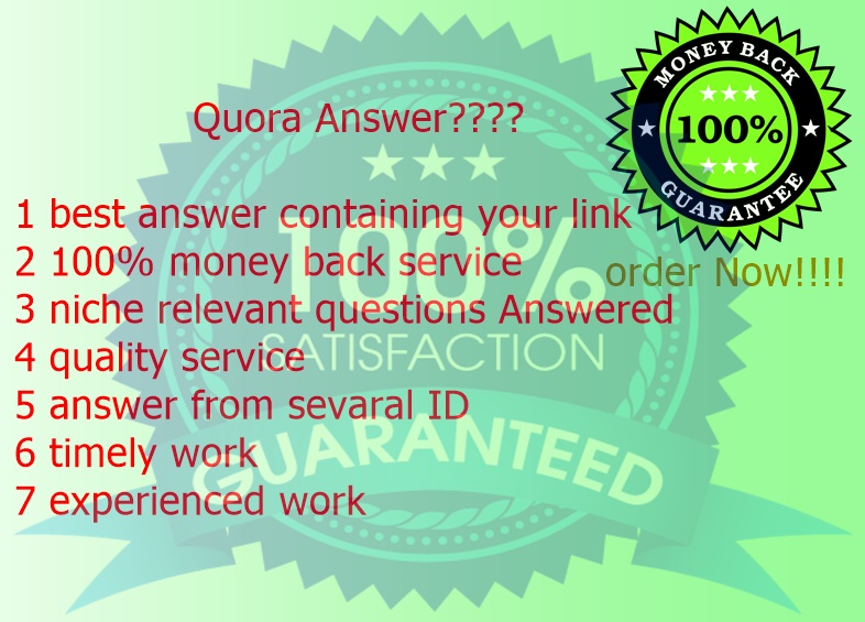 best 20 quora answer service for you