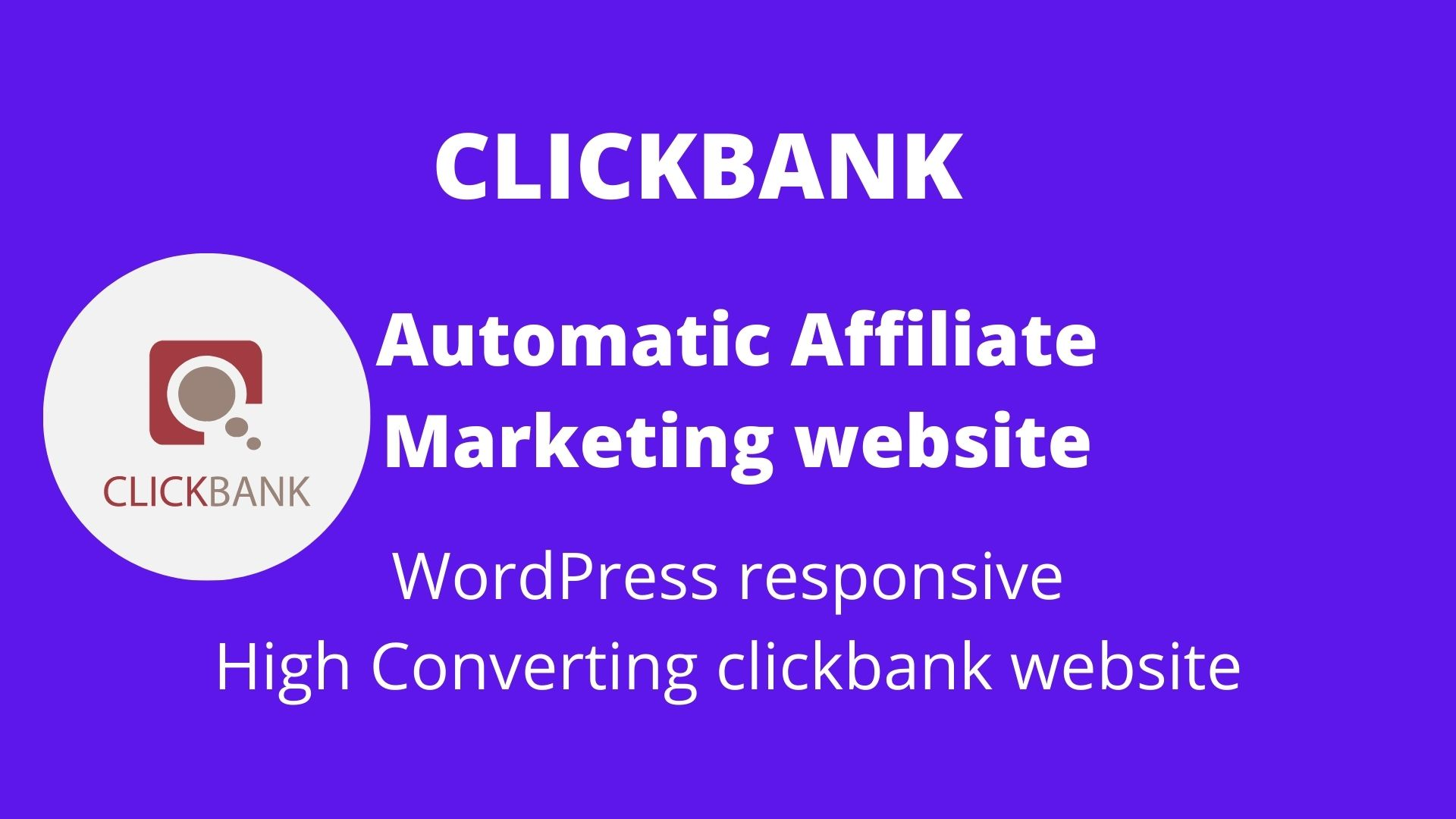 I will build premium clickbank affiliate website to make huge income