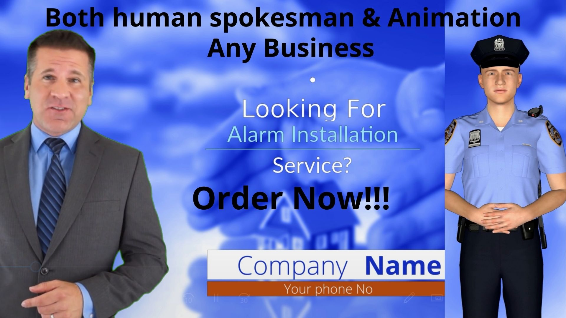 Professional Animation and human spokesman video ads