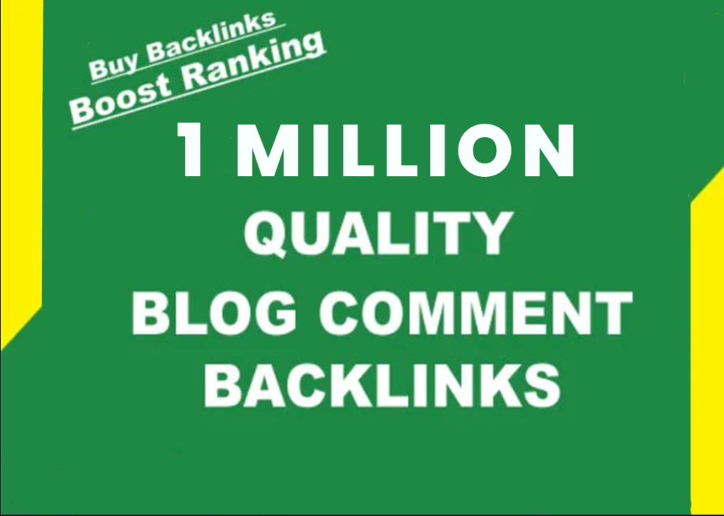 I will provide 1 million do f0llow SEO blog comment to bump ranking