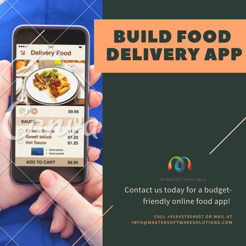 Build Food Delivery By Master Software Solutions