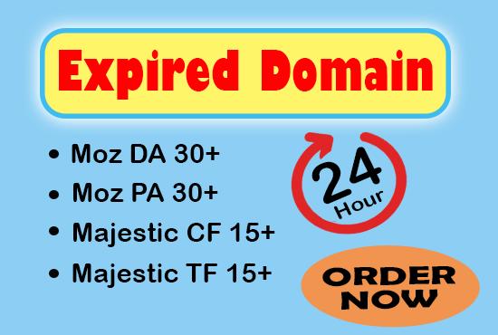 30 Plus DA PA CF TF Moz Authority Expired domain.