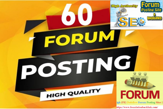 I will do high authority forum posting with your website url