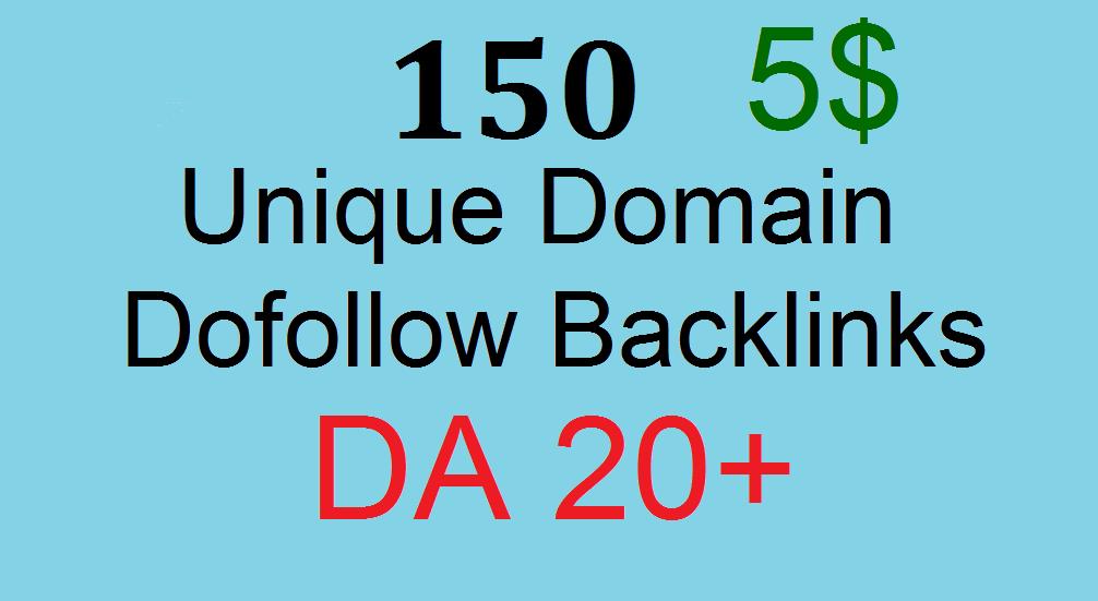 150 Manual Unique Domain Dofollow Blog Comment With Da 20plus