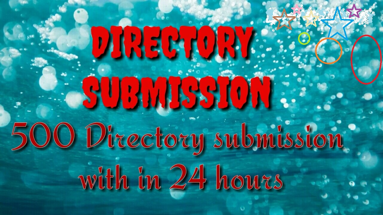 PROVIDE 500 DIRECTORY SUBMISSION WITH IN 24 HOURS