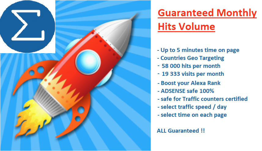 send to your URL -> UP to 58.000 hits / month