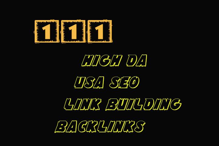 create 111 high da white hat USA SEO link building backlinks
