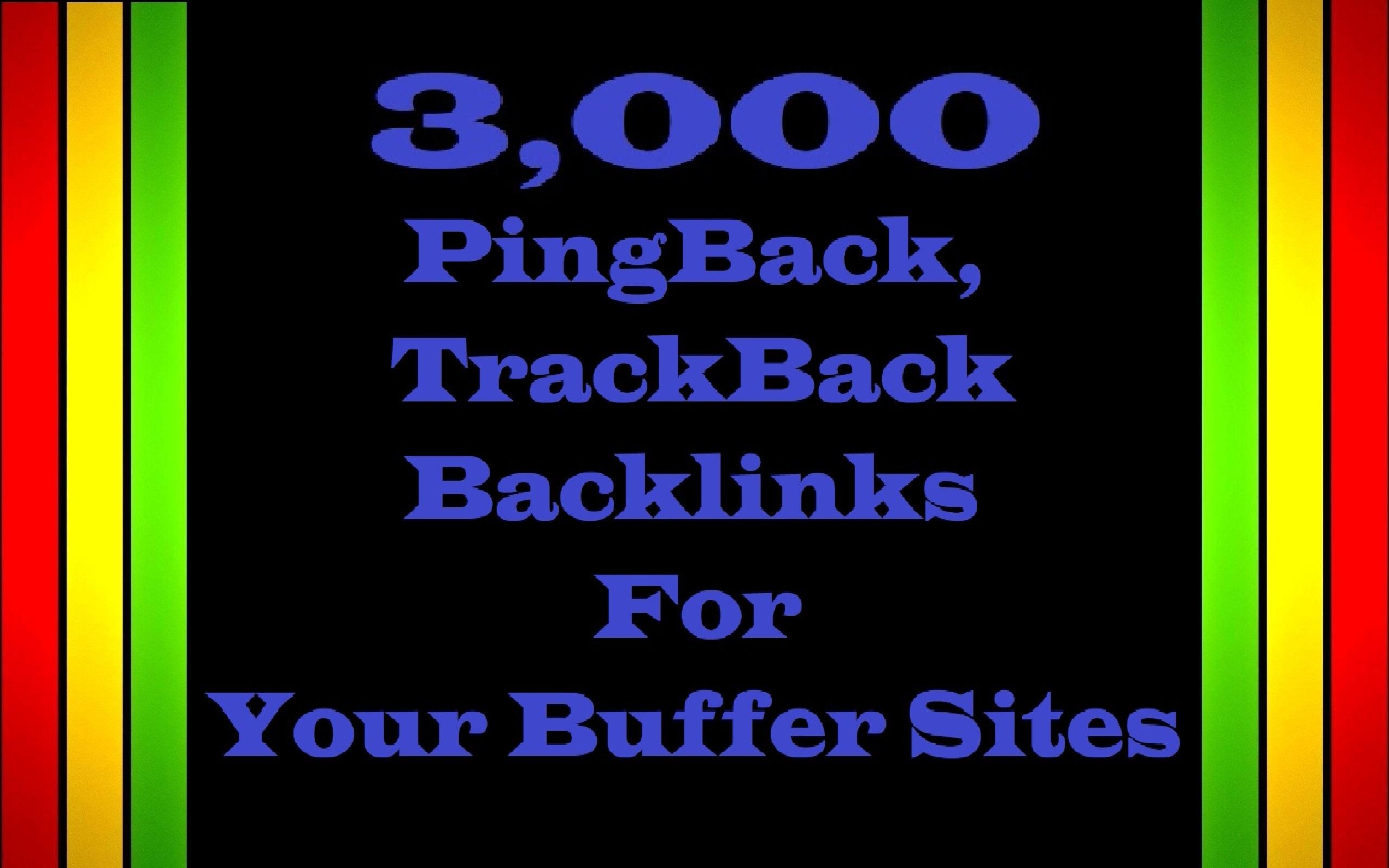 3,000 PingBack,  TrackBack Backlinks for Your Buffer website