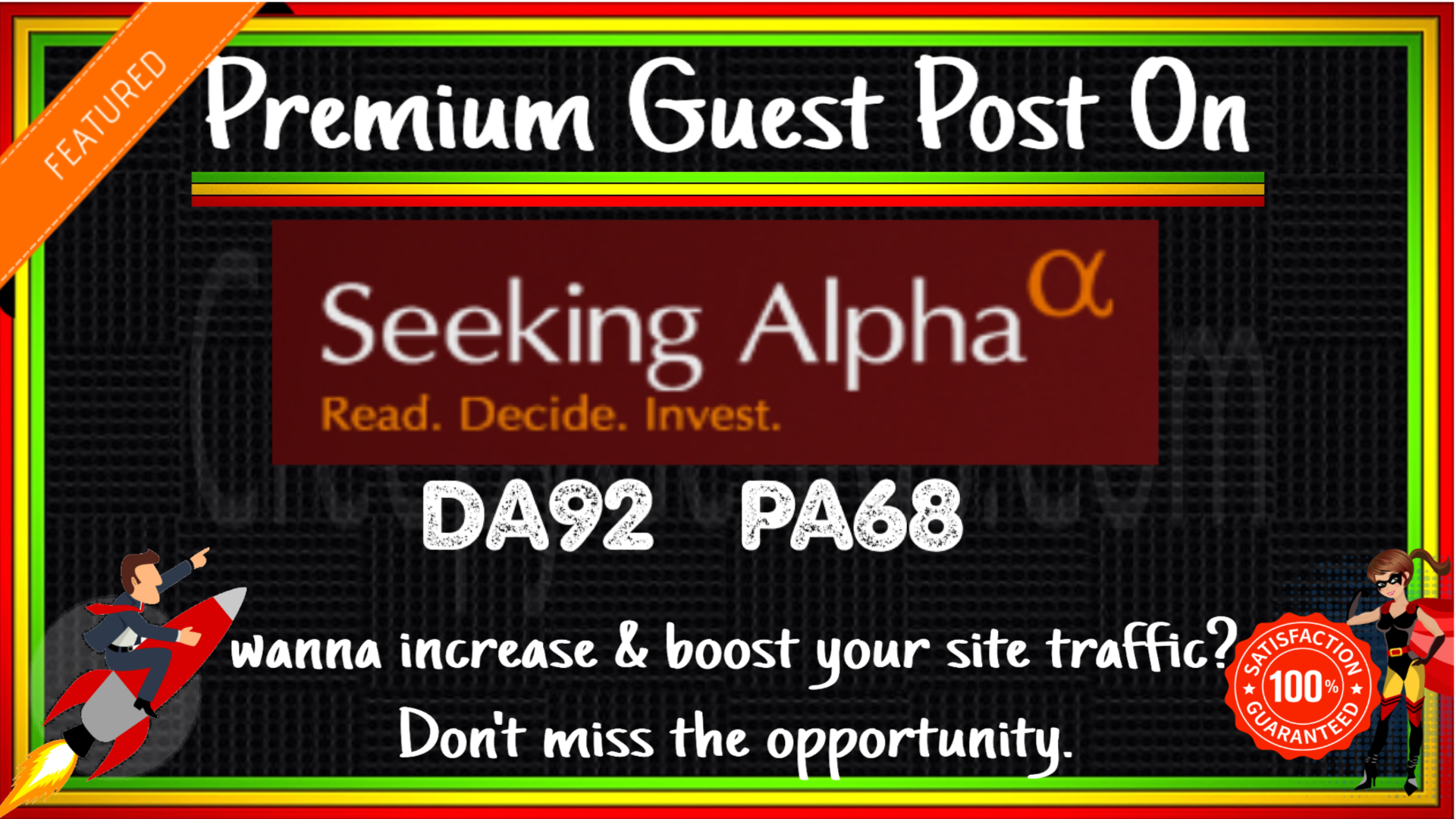 Write & Publish Guest Post On SeekingAlpha. com DA 92 With Indexed Link