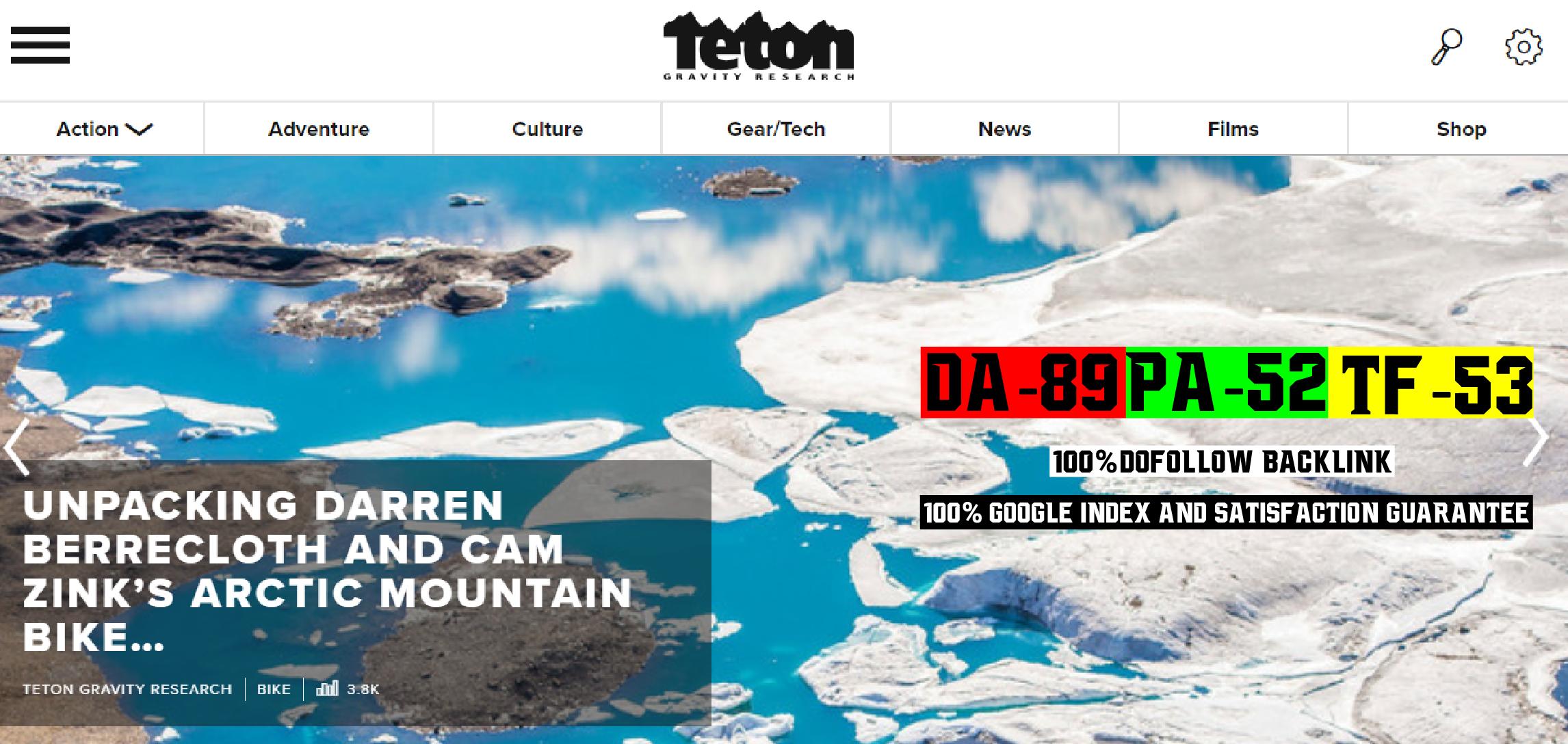 Write And Publish Guest Posting Service On Da70 Sport Blog tetongravity